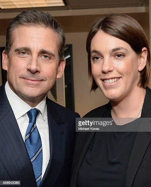 Actor Steve Carell and producer Megan Ellison attend the premiere of Sony Pictures Classics' 'Foxcatcher' during AFI FEST 2014 presented by Audi at...