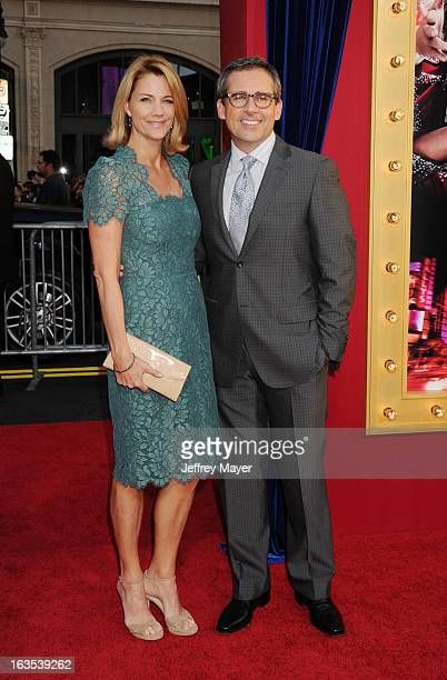 Actor Steve Carell and wife Nancy Carell arrive at the 'The Incredible Burt Wonderstone' Los Angeles Premiere at TCL Chinese Theatre on March 11 2013...