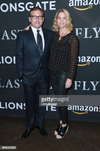 Actor Steve Carell and wife Nancy Carell attends the premiere of Amazon's 'Last Flag Flying' at DGA Theater on November 1 2017 in Los Angeles...