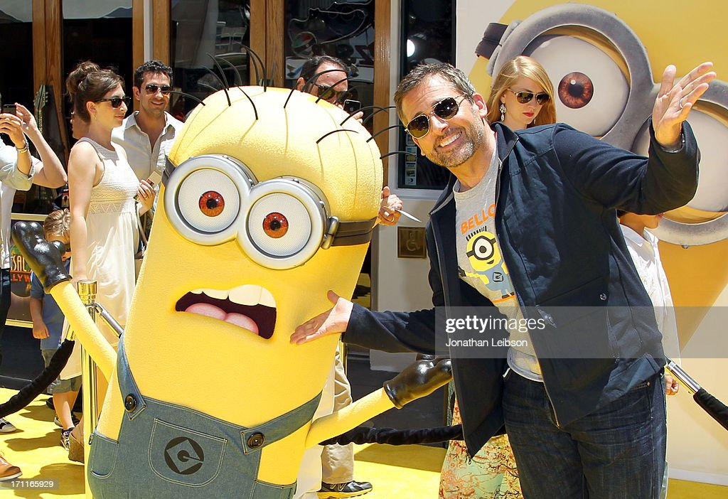 Actor Steve Carell arrives at the 'Despicable Me 2' premiere at Universal CityWalk on June 22, 2013 in Universal City, California.