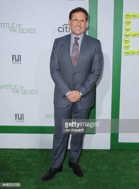 Actor Steve Carell arrives at the Premiere Of Fox Searchlight Pictures' 'Battle Of The Sexes' at Regency Village Theatre on September 16 2017 in...