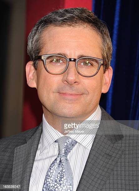 Actor Steve Carell arrives at the 'The Incredible Burt Wonderstone' Los Angeles Premiere at TCL Chinese Theatre on March 11 2013 in Hollywood...