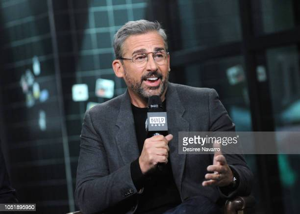 Actor Steve Carell attends Build Series to discuss the film 'Beautiful Boy' at Build Studio on October 11 2018 in New York City
