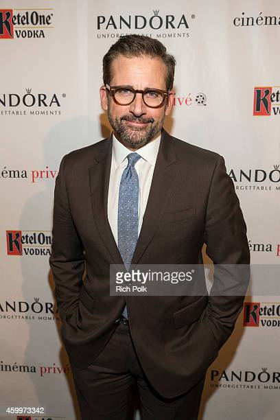 Actor Steve Carell attends cinema prive and PANDORA Jewelry host a special screening of Foxcatcher featuring Ketel One vodka cocktails on December 4...