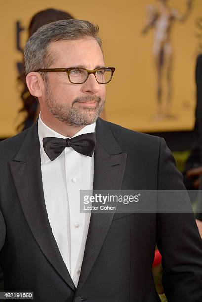 Actor Steve Carell attends the 21st Annual Screen Actors Guild Awards at The Shrine Auditorium on January 25 2015 in Los Angeles California