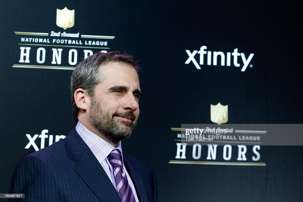 Actor Steve Carell attends the 2nd Annual NFL Honors at the Mahalia Jackson Theater on February 2, 2013 in New Orleans, Louisiana.
