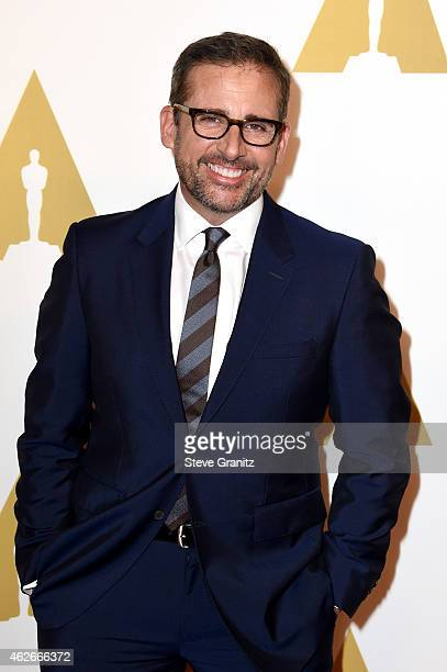 Actor Steve Carell attends the 87th Annual Academy Awards Nominee Luncheon at The Beverly Hilton Hotel on February 2 2015 in Beverly Hills California