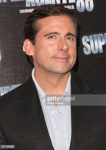 Actor Steve Carell attends the 'Get Smart' photo call at Hotel Four Seasons on June 25 2008 in Mexico City Mexico