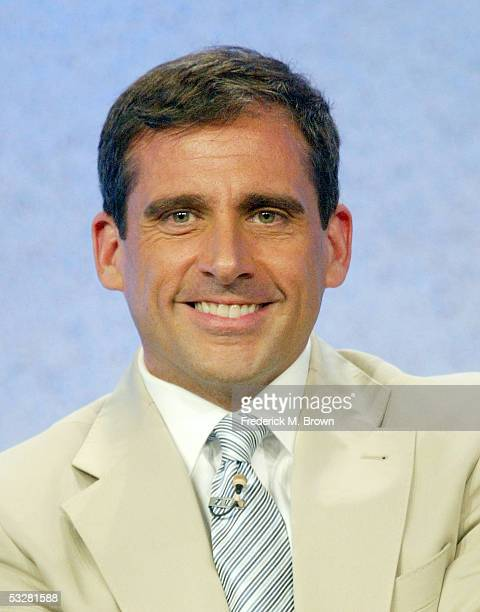"""Actor Steve Carell attends the panel discussion for """"The Office"""" during the NBC 2005 Television Critics Association Summer Press Tour at the Beverly..."""