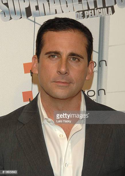 Actor Steve Carell attends the premiere of 'Get Smart' at Capitol Cinema on July 8 2008 in Madrid Spain