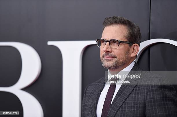 """Actor Steve Carell attends the premiere of """"The Big Short"""" at Ziegfeld Theatre on November 23, 2015 in New York City."""