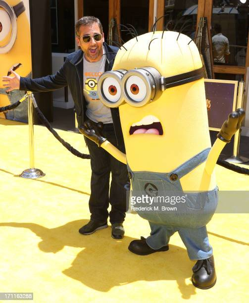 """Actor Steve Carell attends the premiere of Universal Pictures' """"Despicable Me 2"""" at the Gibson Amphitheatre on June 22, 2013 in Universal City,..."""
