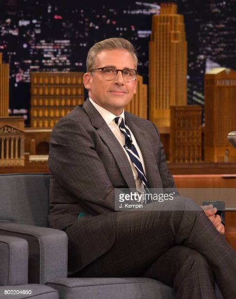 Actor Steve Carell attends 'The Tonight Show Starring Jimmy Fallon' at Rockefeller Center on June 27 2017 in New York City