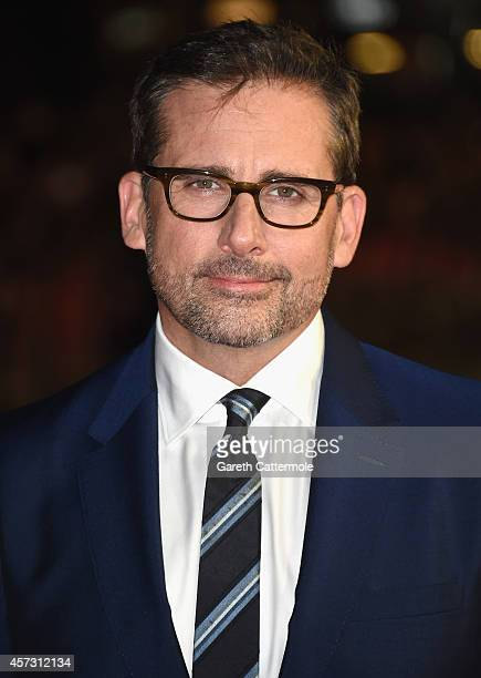 Actor Steve Carell attends the VIP arrivals of the Amex Gala premiere for 'Foxcatcher' during the 58th BFI London Film Festival at Odeon Leicester...