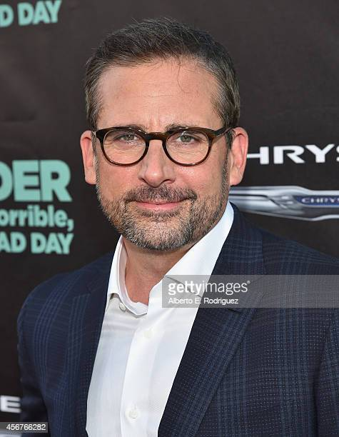 Actor Steve Carell attends The World Premiere of Disney's Alexander and the Terrible Horrible No Good Very Bad Day at the El Capitan Theatre on...