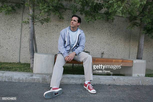 """Actor Steve Carell, photographed outside the set of the TV show """"The Office"""" in Van Nuys. Carell is promoting a new film called """"Dan in Real Life,""""..."""