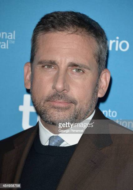 Actor Steve Carell poses at 'Foxcatcher' Press Conference during the 2014 Toronto International Film Festival at TIFF Bell Lightbox on September 8...