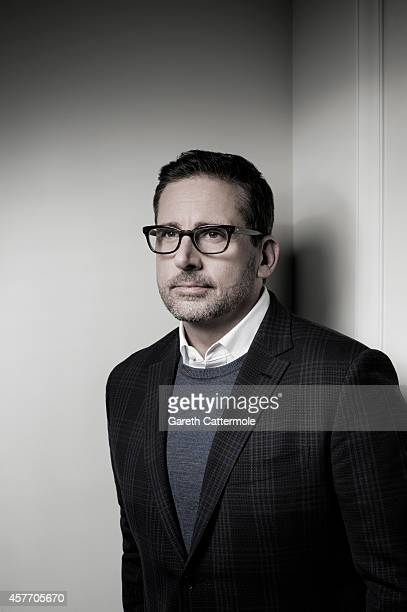 Actor Steve Carell poses in the portrait studio at the BFI London Film Festival 2014 on October 16 2014 in London England