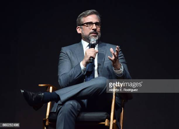 Actor Steve Carell speaks onstage at CinemaCon 2017 Universal Pictures Invites You to a Special Presentation Featuring Footage from its Upcoming...