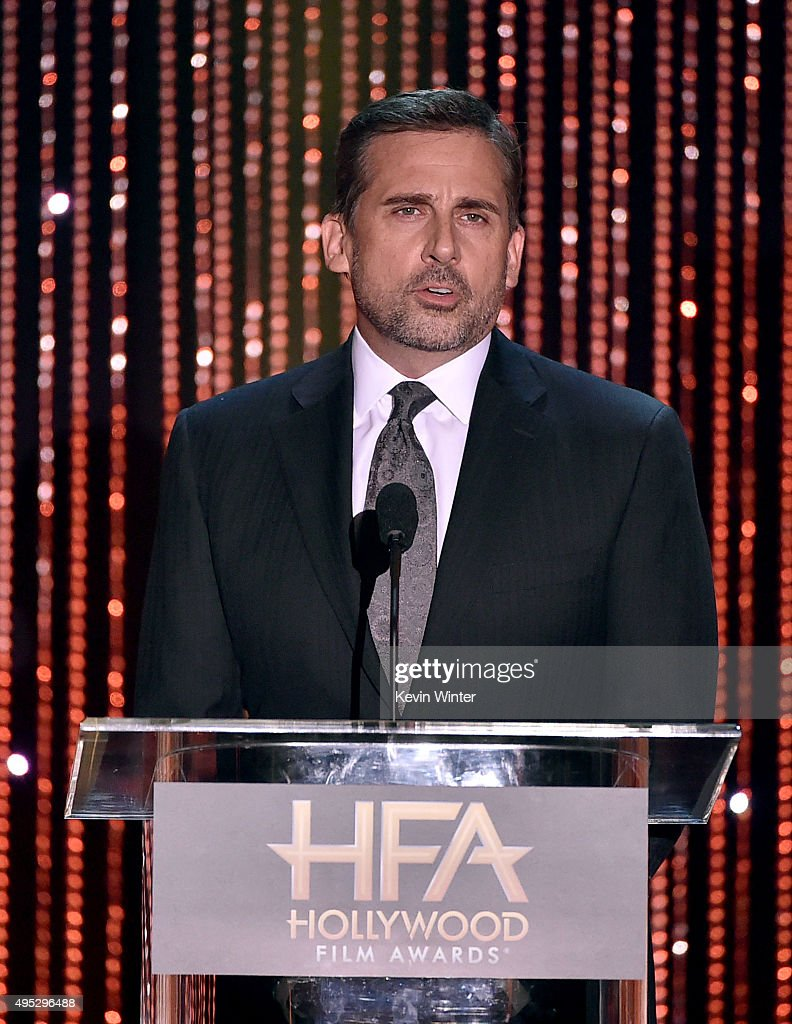 Actor Steve Carell speaks onstage during the 19th Annual Hollywood Film Awards at The Beverly Hilton Hotel on November 1, 2015 in Beverly Hills, California.