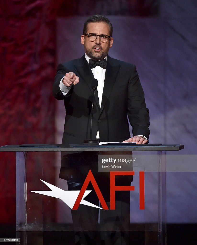 Actor Steve Carell speaks onstage during the 2015 AFI Life Achievement Award Gala Tribute Honoring Steve Martin at the Dolby Theatre on June 4, 2015 in Hollywood, California. 25292_003