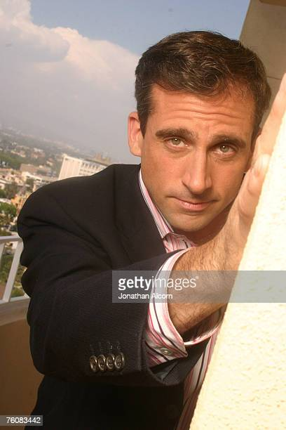 """Actor Steve Carell , star of the new film """"The 40 Year Old Virgin"""" and the NBC comedy """"The Office"""" , at the Four Season's Hotel."""