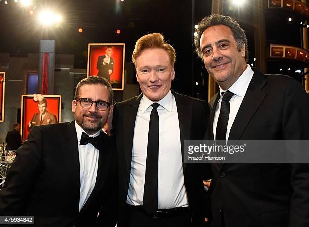 Actor Steve Carell TV personality Conan O'Brien and actor/comedian Brad Garrett attend the 43rd AFI Life Achievement Award Gala honoring Steve Martin...