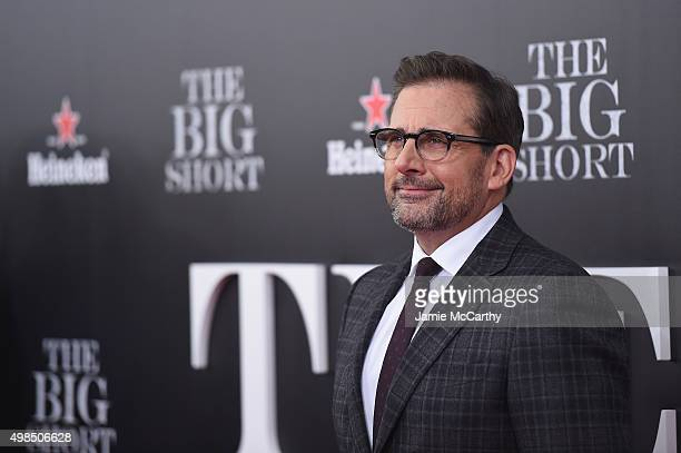 Actor Steve Carrell attends the premiere of 'The Big Short' at Ziegfeld Theatre on November 23 2015 in New York City