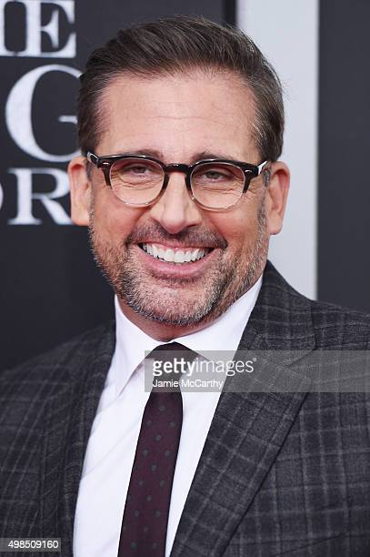"""Actor Steve Carrell attends the premiere of """"The Big Short"""" at Ziegfeld Theatre on November 23, 2015 in New York City."""