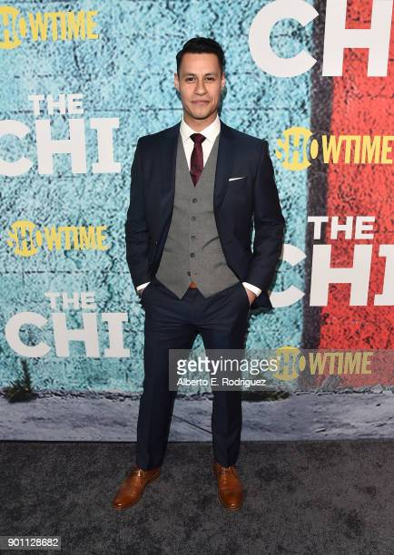 Actor Steve Casillas attends the premiere of Showtime's 'The Chi' at The Downtown Independent on January 3 2018 in Los Angeles California