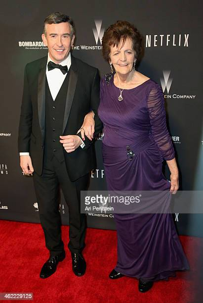 Actor Steve Coogan and Philomena Lee attend The Weinstein Company Netflix's 2014 Golden Globes After Party presented by Bombardier FIJI Water Lexus...