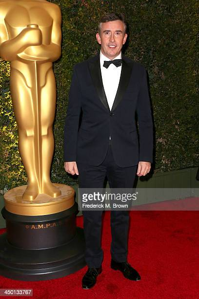 Actor Steve Coogan arrives at the Academy of Motion Picture Arts and Sciences' Governors Awards at The Ray Dolby Ballroom at Hollywood Highland...