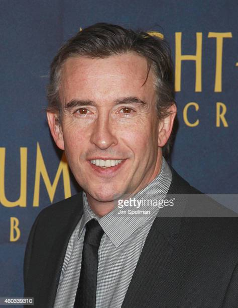 Actor Steve Coogan attends the Night At The Museum Secret Of The Tomb' New York premiere at the Ziegfeld Theater on December 11 2014 in New York City