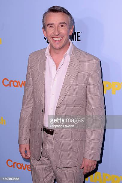 "Actor Steve Coogan attends the premiere of the SHOWTIME original comedy series ""HAPPYish"" at The Bowery Hotel on April 20 2015 in New York City..."