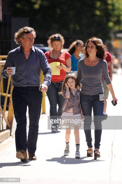 Actor Steve Coogan enters the 'What Maisie Knew' movie set at La Lunchonette restaurant on August 22 2011 in New York City