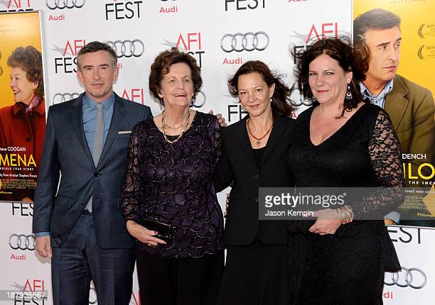 Actor Steve Coogan Philomena Lee producer Gabrielle Tana and Jane Libberton attend the premiere of 'Philomena' during AFI FEST 2013 presented by Audi...