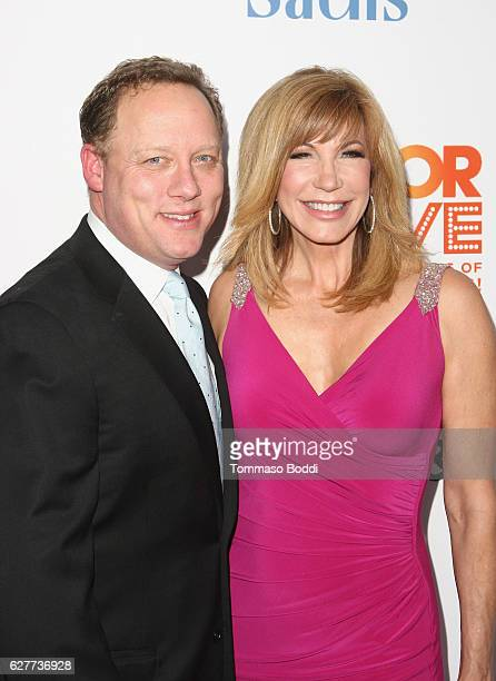 Actor Steve Fenton and tv personality Leeza Gibbons attend The Trevor Project's 2016 TrevorLIVE LA at The Beverly Hilton Hotel on December 4 2016 in...