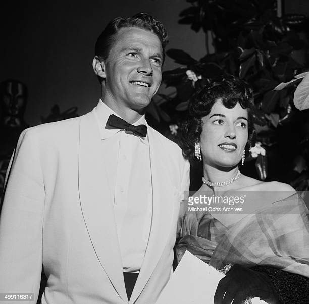 Actor Steve Forrest and his wife Christine Carilas attend a party in Los Angeles California