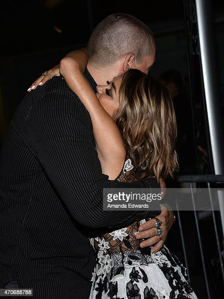 """Actor Steve Howey and actress Sarah Hyland arrive at the Los Angeles premiere of """"See You In Valhalla"""" at the ArcLight Cinemas on April 21, 2015 in..."""