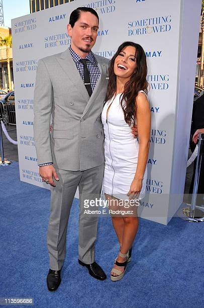 Actor Steve Howey and actress Sarah Shahi arrive at the premiere of Warner Bros Something Borrowed held at Grauman's Chinese Theatre on May 3 2011 in...
