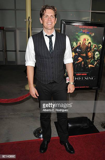 Actor Steve Howey arrives at the Los Angeles premiere of Anchor Bay Entertainment's Stan Helsing on October 20 2009 in Los Angeles California