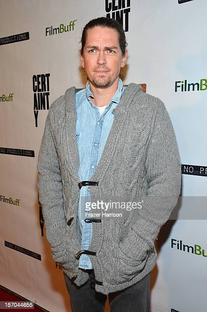 Actor Steve Howey arrives at the Premiere of Certainty at the Lemelle Music Hall on November 27 2012 in Beverly Hills California