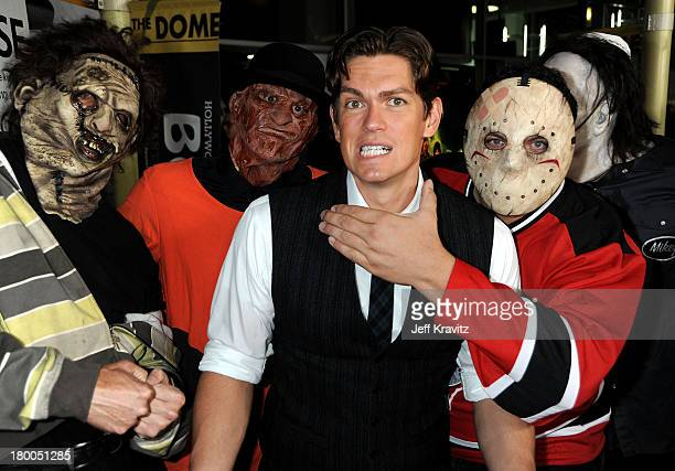 Actor Steve Howey arrives at the premiere of Stan Helsing Bo Zenga's hilarious horror film parody held at ArcLight Hollywood on October 20 2009 in...