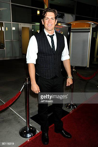 Actor Steve Howey arrives at the premiere of 'Stan Helsing' Bo Zenga's hilarious horror film parody held at ArcLight Hollywood on October 20 2009 in...