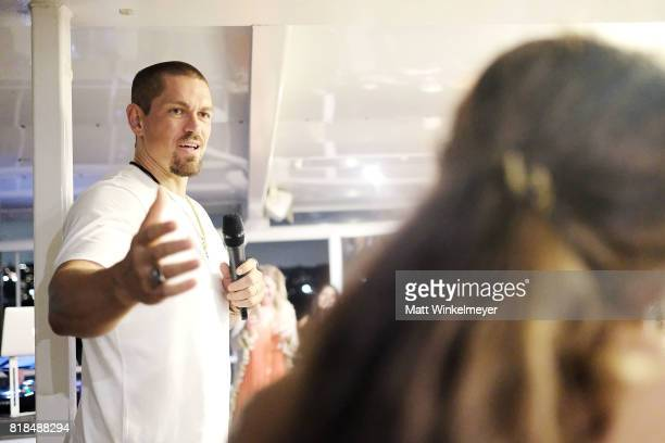 Actor Steve Howey attends his Surprise 40th Birthday Party on July 16 2017 in Los Angeles California