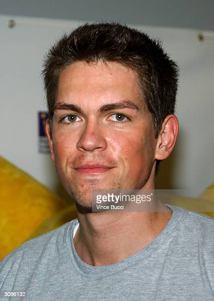 Actor Steve Howey attends the Frankie Muniz HoopLA celebrity charity basketball game presented by Pokemon Trading Card Games on March 14 2004 in Los...