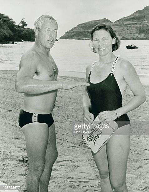 Actor Steve Kanaly and wife Brent Power attend Kauai Lagoons Celebrity Sports Invitational on October 6 1988 at the Westin Kauai Resort in Kauai...