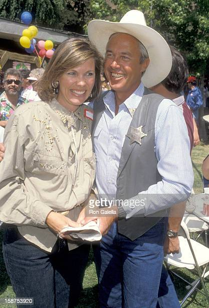 Actor Steve Kanaly and wife Brent Power attend the 11th Annual Great Coldwater Canyon Chili Cookoff on May 2 1987 at St Michael and All Angel's...