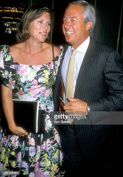 Actor Steve Kanaly and wife Brent Power attend The Actors Fund Benefit Gala on September 12 1987 at Beverly Hills Hotel in Beverly Hills California