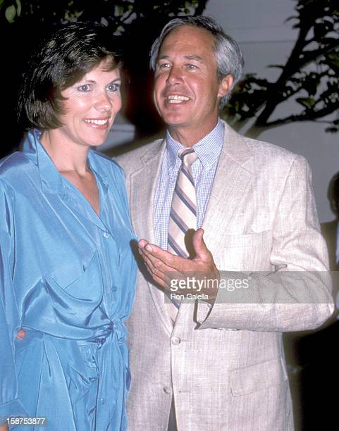 Actor Steve Kanaly and wife Brent Power attend the CBS Affiliates Party on June 13 1986 at The Bistro in Beverly Hills California